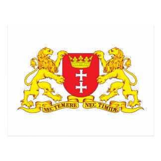 Gdansk Coat of Arms Danzig Postcard