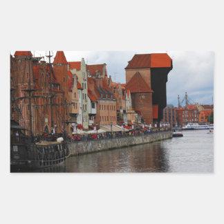 Gdansk, Poland Rectangular Sticker