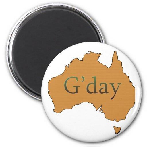 G'day 2 Inch Round Magnet
