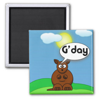 Gday 2 Inch Square Magnet
