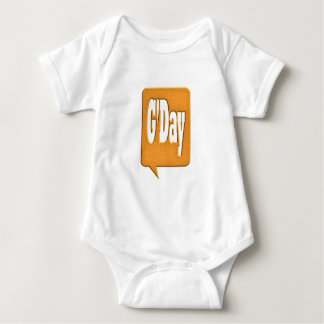 G'DAY GOOD DAY SLANG COMMENT BUBBLE SUMMER STYLE O BABY BODYSUIT
