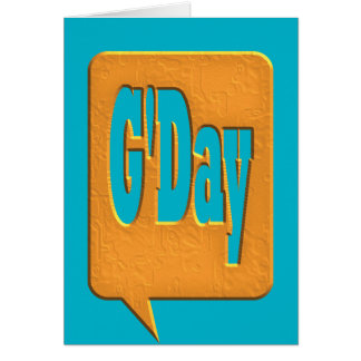 G'DAY GOOD DAY SLANG COMMENT BUBBLE SUMMER STYLE O CARD