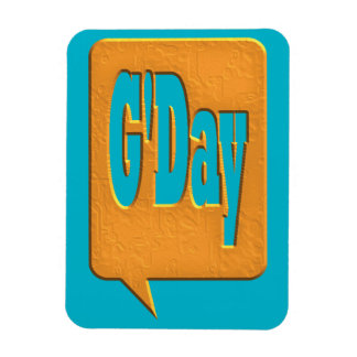 G'DAY GOOD DAY SLANG COMMENT BUBBLE SUMMER STYLE O RECTANGLE MAGNETS