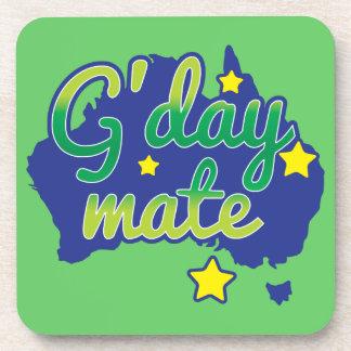 G'DAY Mate Australian Greeting hello Drink Coaster
