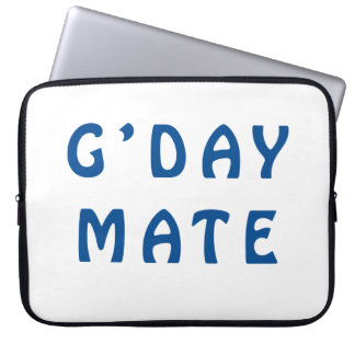 Gday Mate Blue Computer Sleeve