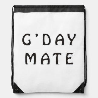 G'DAY MATE DRAWSTRING BACKPACKS