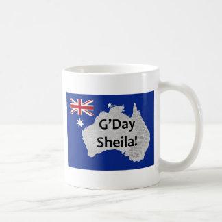 G'Day Sheila Australian Logo Mug