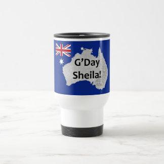 G'Day Sheila Australian Logo Travel Mug