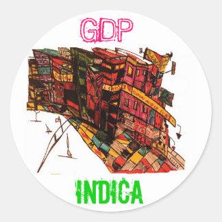 GDP INDICA STICKER