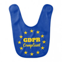 GDPR Compliant General Data Protection Regulation Baby Bib