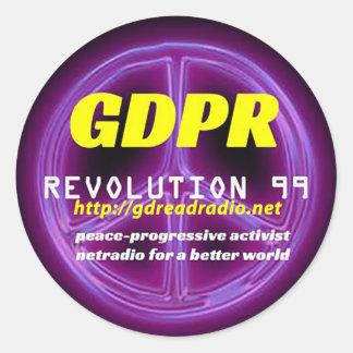GDPR REVOLUTION99 Classic Round Sticker