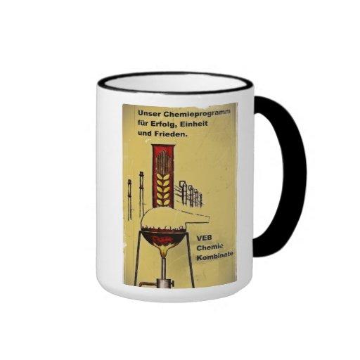 GDR advertising cup of chemistry Ringer Coffee Mug