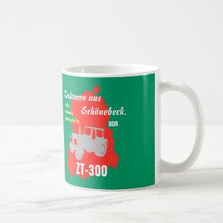 GDR advertising Design tractor work beautiful Beck Classic White Coffee Mug