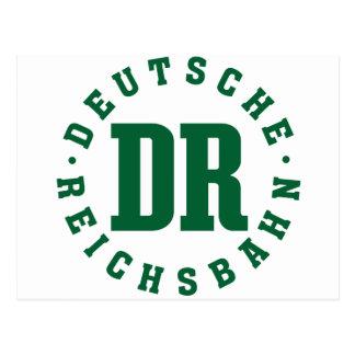 GDR/GDR Railway - German National Railroad Sign Postcard