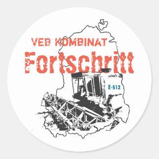 GDR progressed Classic Round Sticker