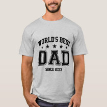 GDtxt World's Best Dad [Year] T-Shirt