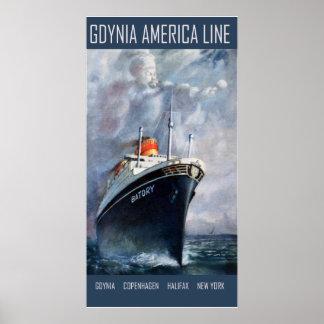 Gdynia America Line Poster