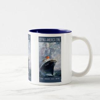 Gdynia America Line Two-Tone Coffee Mug