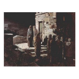 GE Cristo y sus discípulos, Gethsemane de Nikolai Tarjetas Postales