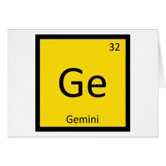 Ge - Gemini Zodiac Sign Chemistry Periodic Table Card