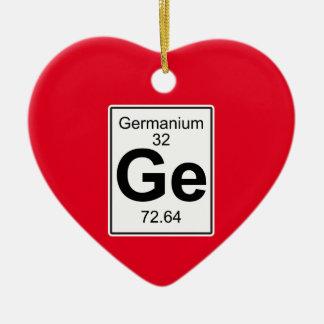 Ge - Germanium Ceramic Ornament