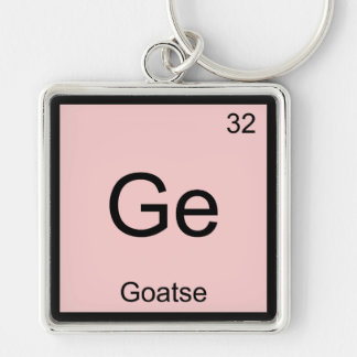 Ge - Goatse Chemistry Element Symbol Meme T-Shirt Silver-Colored Square Keychain