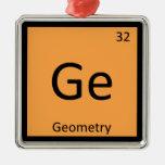 GE - símbolo de la tabla periódica de la química d Ornamentos De Navidad