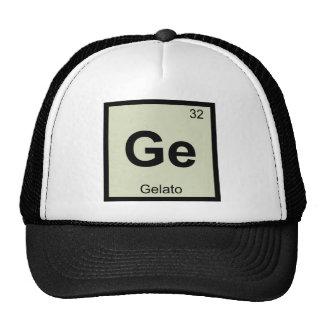 GE - símbolo de la tabla periódica de la química Gorra
