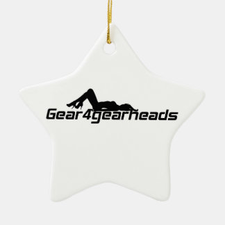 Gear4gearheads Lady Double-Sided Star Ceramic Christmas Ornament