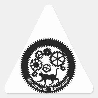 Gear Cat Triangle Sticker