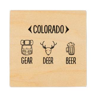 Gear, Deer, Beer Colorado Coasters