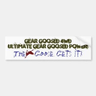 gear goosed 4WD Bumper Sticker