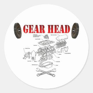 GEAR HEAD CLASSIC ROUND STICKER