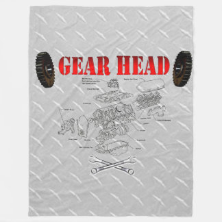 GEAR HEAD FLEECE BLANKET