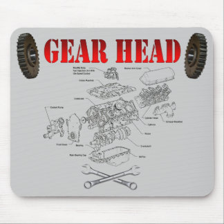 GEAR HEAD MOUSE PAD