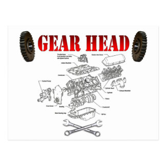 GEAR HEAD POSTCARD