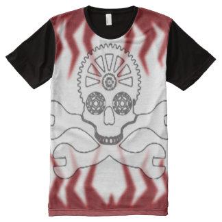Gear Head Racing Skull Airbrush Art All-Over-Print T-Shirt