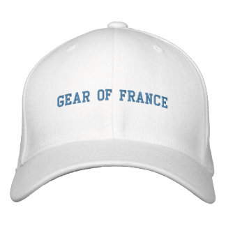GEAR OF FRANCE EMBROIDERED BASEBALL CAPS