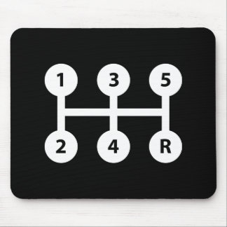 Gear Shift Pictogram Mousepad