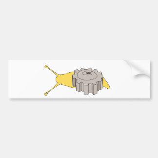 gear snail bumpersticker bumper sticker