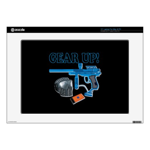 "Gear Up 2 15"" Laptop Decals"