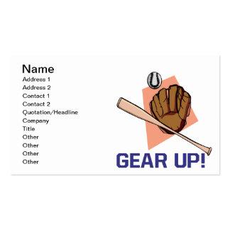 Gear Up Business Card Templates