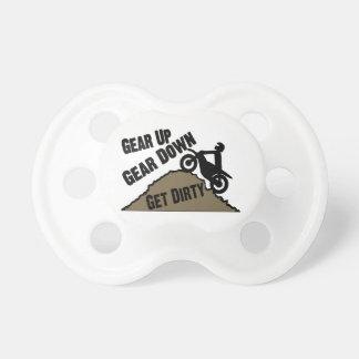 Gear Up Gear Down Dirt Bike Rider BooginHead Pacifier