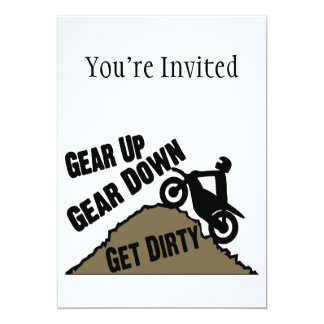 Gear Up Gear Down Dirt Bike Rider Card