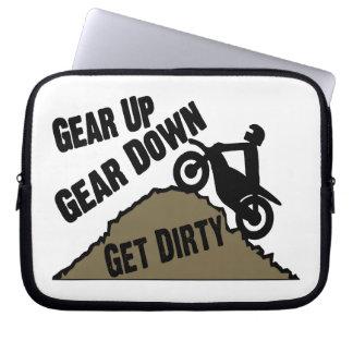 Gear Up Gear Down Dirt Bike Rider Laptop Sleeves