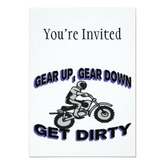 Gear Up Get Dirty Motocross Card