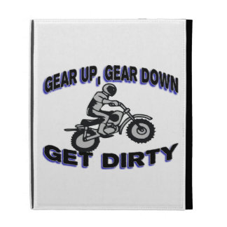Gear Up Get Dirty Motocross iPad Folio Covers
