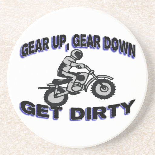 Gear Up Get Dirty Motocross Drink Coasters