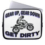 Gear Up Get Dirty Motocross Laptop Computer Sleeves