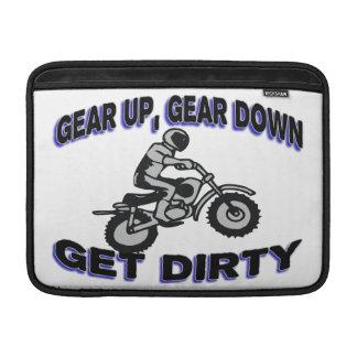 Gear Up Get Dirty Motocross MacBook Air Sleeves